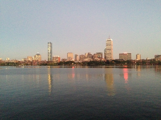 Having views like this on my run make me fall in love with Boston all over again <3